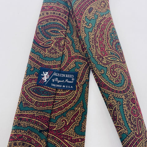 Austin Reed Tie Silk Multi-Color Paisley Pattern