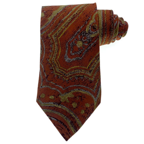 Joseph Abboud Tie Silk Multi-Color Abstract Pattern