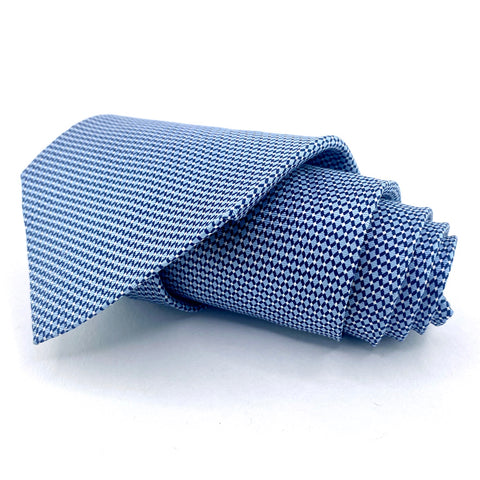 Claybrooke Tie Silk Blue Geometric Pattern