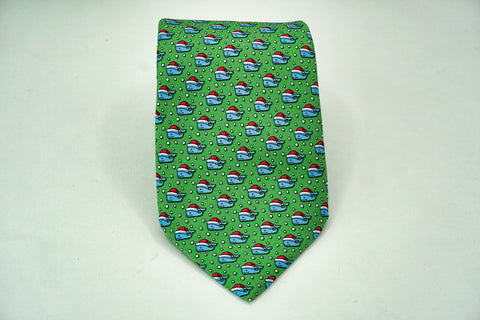 Vineyard Vines All Silk Classic Width Christmas Whales Necktie Vineyard Vines Ties