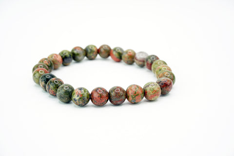 Natural Stone Bead Bracelet Stretch Earth Tone Stone Funky Lizard Bracelets