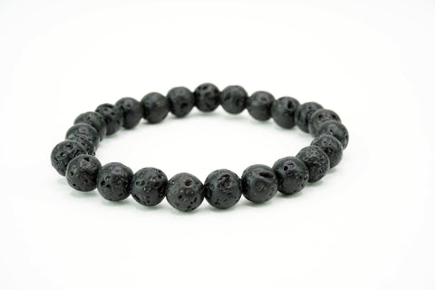 Natural Stone Bead Bracelet Stretch Black Stone Funky Lizard Bracelets