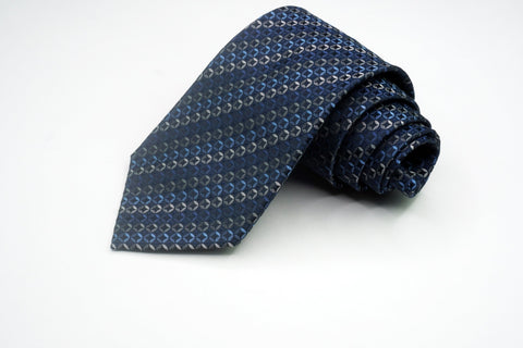 Alfani Silk Blue and Multi-Color Geometric Pattern Ties Alfani