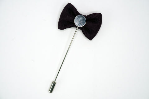 Lapel Bowtie Pin Black Funky Lizard Brooches