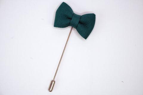 Lapel Bowtie Pin Teal Funky Lizard Brooches