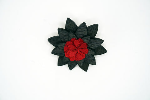 Lapel Wood Flower Pin Back Knot Around Your Neck Brooches