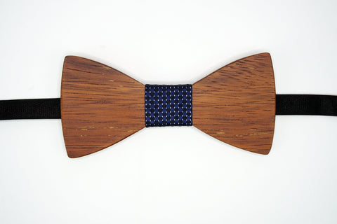 "Bow Tie Wood with Adjustable 19"" Band Wood Grain Pattern The Mahoosive Bow Ties"