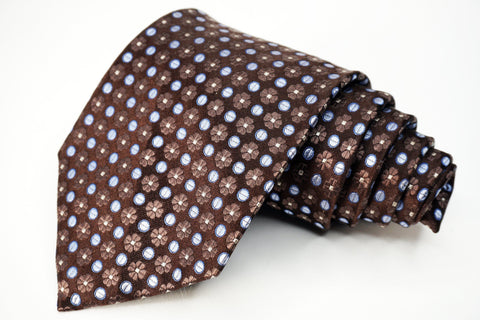 Croft & Barrow Tie Black Silk Geometric Pattern