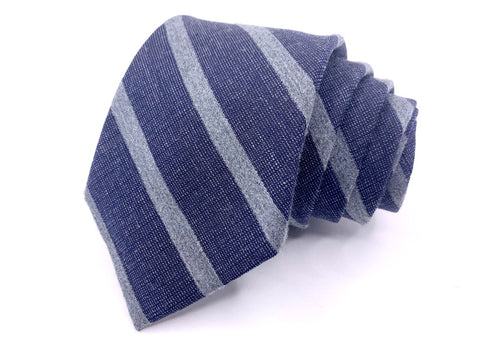 Jos. A. Bank Tie 1905 Collection Navy Heather Striped