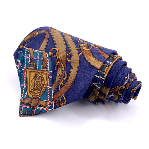 Via Manzoni Silk Tie Ornamental Pattern