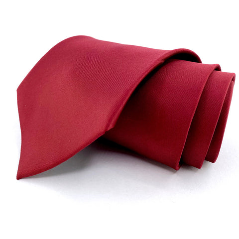 Roberto Lorenzo Tie Silk Red Solid