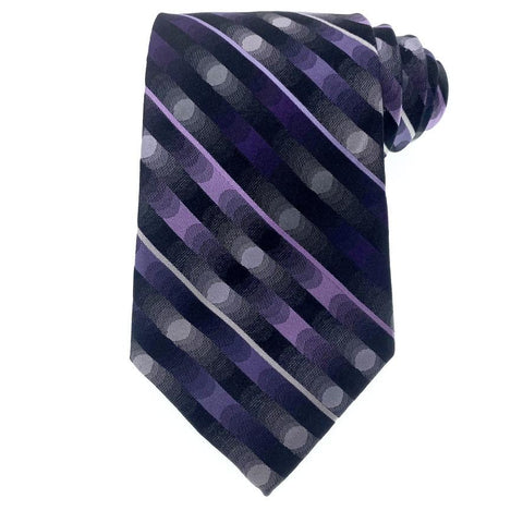 Arrow Tie Purple Geometric Pattern