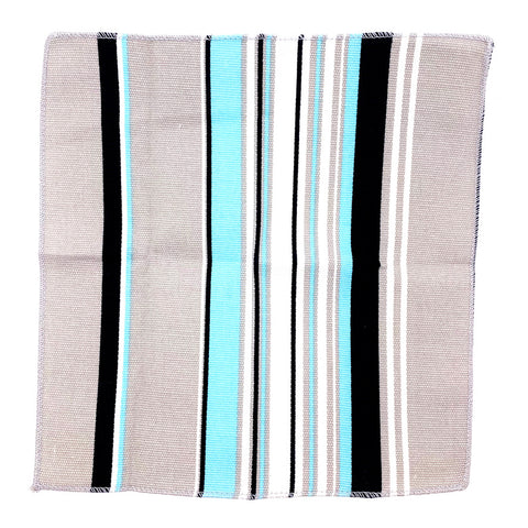 Pocket Square Light Gray Striped Pattern 11""