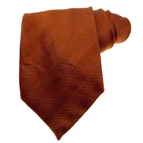 Hunt Club Tie Silk Made In Italy Rust Color