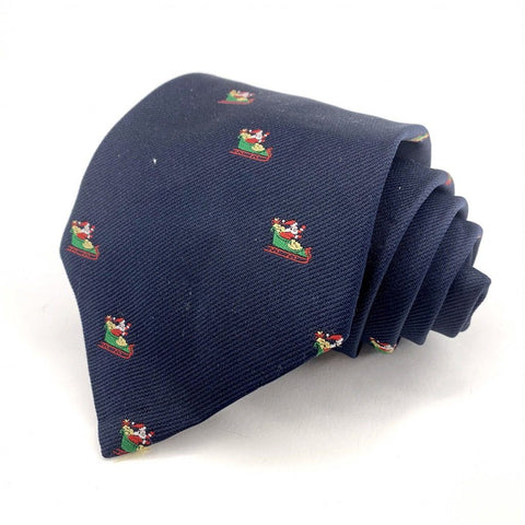 Charing Cross Tie Blue Novelty Pattern