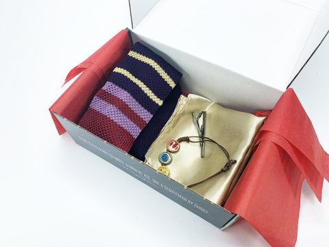 "Hook & Albert Tie Gift Box ""The Man Who Has It All"" The Man Who Has It All Gift Box"