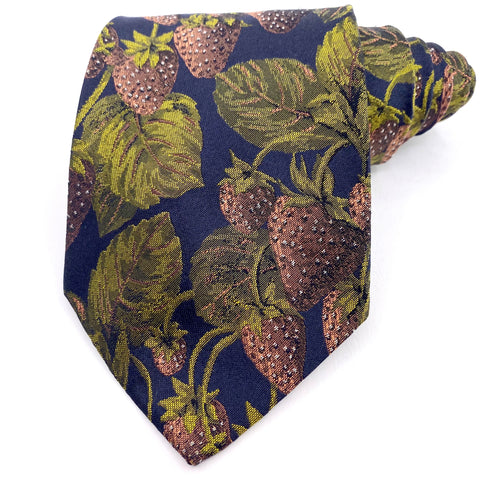 Hugo Boss Tie Silk Strawberries Pattern