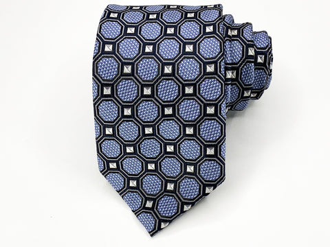 Alexander Julian Tie Blue Geometric Pattern