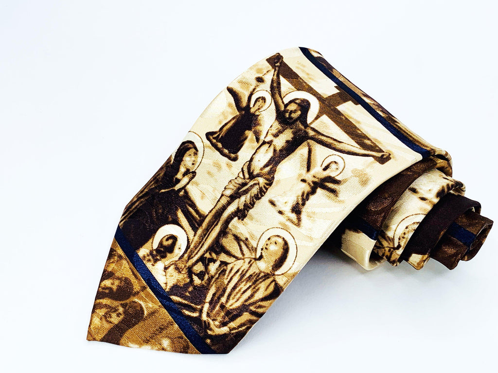 29950c43782d Fratello Tie Religious Brown Jesus Christ Novelty | Ties | Buy Now 9.99
