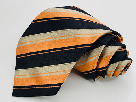Stefano Ricci Tie 100% Silk Multi-Color Striped Necktie