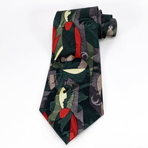 City One Tie Multi-Color Silk Abstract Pattern