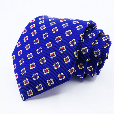 Cape Cod Neckwear Tie Purple Silk Floral Pattern