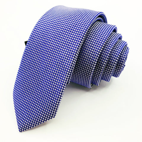 Express Tie Purple Silk Geometric Pattern