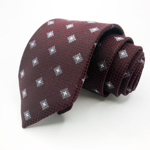Pronto Uomo Tie Black Silk Geometric Pattern