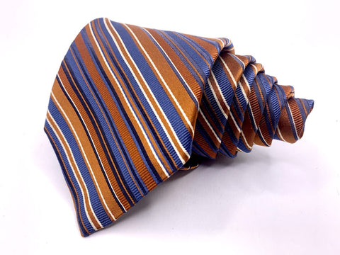 Joseph Abboud Tie Rust/Blue Striped