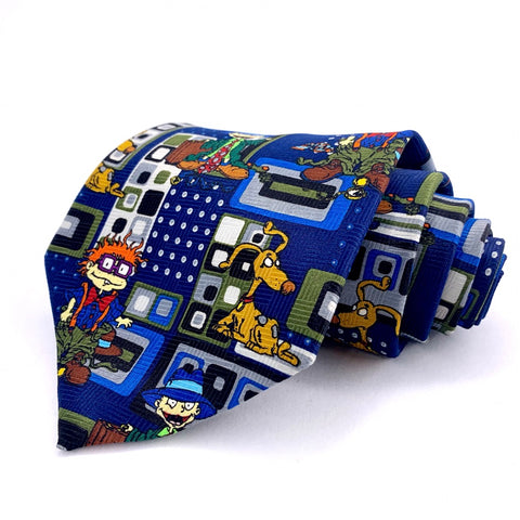 Rugrats Tie Blue Novelty Pattern