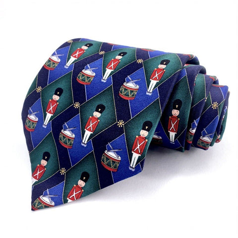 Holidays Tie Multi Color Silk Novelty Pattern