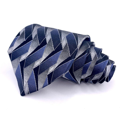 Arrow Silk Tie Geometric Pattern Multi-Color