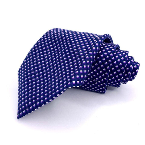 Hathaway Tie All Silk Geometric Pattern