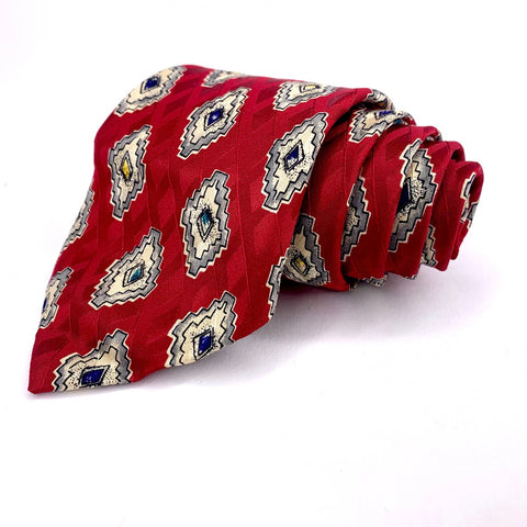 Robert Talbott Tie Red Silk Omimental Pattern