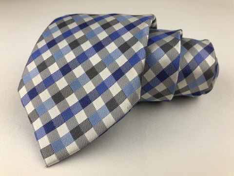 Geoffrey Beene All Silk Men's Multi-Color Necktie Gingham Pattern Geoffrey Beene Ties