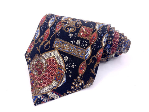 The Metropolitan Museum Of Art Tie Silk Dark Blue