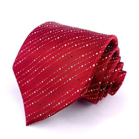 Croft & Barrow Tie Red Geometric Pattern