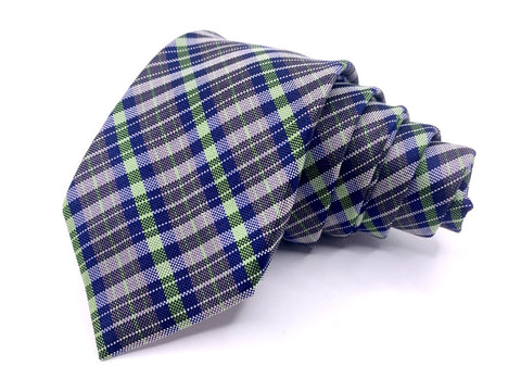 Original Penguin Tie Blue Green Plaids and Checks Pattern