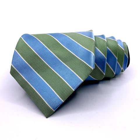 Tommy Hilfiger Tie Striped Blue Silk