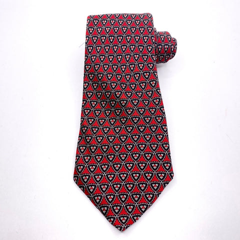 Stefano Ricci Tie Red Geometric Pattern