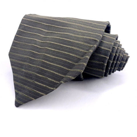 Principe Tie Olive Silk Striped Pattern