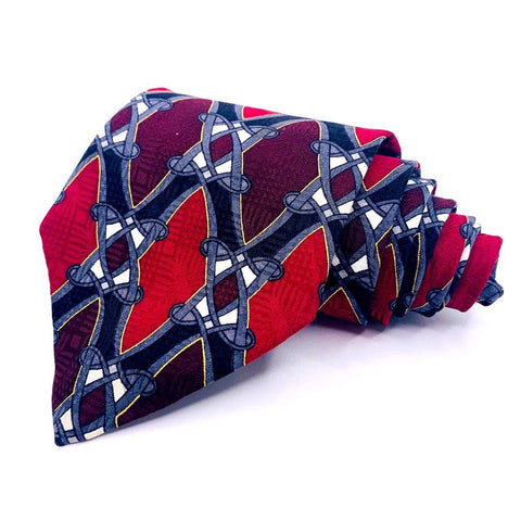 Facets Classics Tie Red/Blue Ornamental Pattern