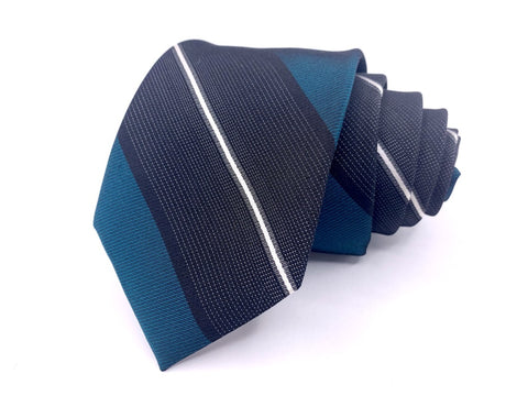 Original Penguin Tie Blue Wide Striped Pattern