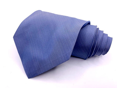 Alfani Tie Silk Blue Solid Textured