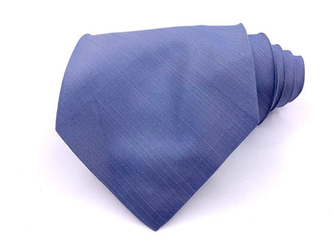 Alfani Tie Silk Blue Solid Textured Ties Alfani