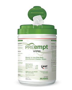 PreEmpt Anti-Bacterial Wipes - 160 wipes per pail