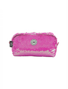 Hot Pink/silver Sequin Pencil Case
