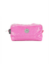 Hot Pink/white Sequin Pencil Case
