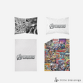 Avengers Comic Bed Set