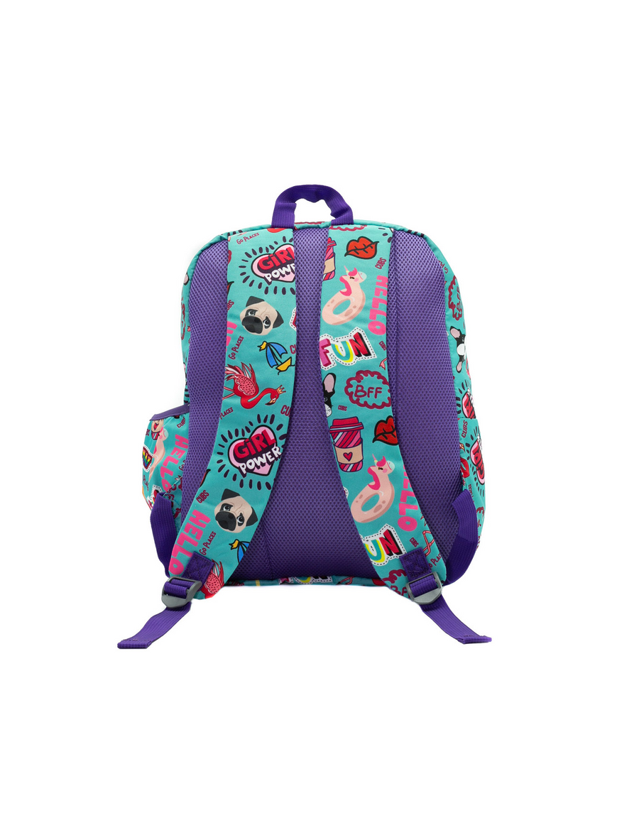 Girl Power Large Junior Student Backpack 28 Liters